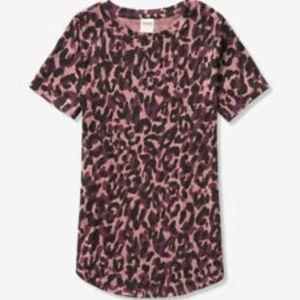 NWT VS PINK XS Purple Camo Leopard Shirt